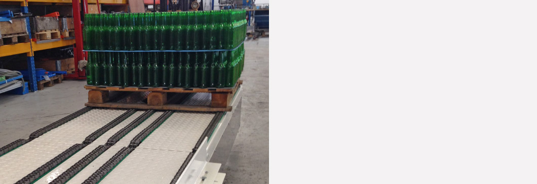 Rosario-pallet-conveying-system